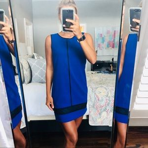 NWT Blue and black work dress